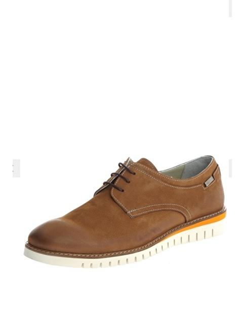 Comienzo %100 Suni Deri Bağcıklı Ayakkabı Taba